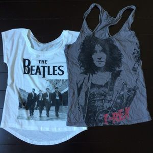 Tops - The Beatles and T-Rex T / Tank Bundle